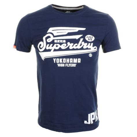 tshirt new york superdry high flyers entry t shirt eclipse in blue for