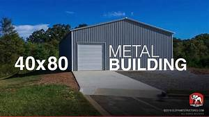 40x80 metal building id29148 youtube With 40x80 metal building house