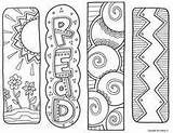 Bookmarks Coloring Classroomdoodles Printable Bookmark Template sketch template