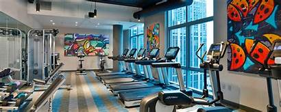 Chicago Aloft Marriott Fitness Center Mag Hotel