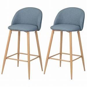 Chaise De Bar Bleu : chaise de bar cozy bleue lot de 2 retrouvez nos chaises de bar cozy bleues lot de 2 rdv d co ~ Teatrodelosmanantiales.com Idées de Décoration