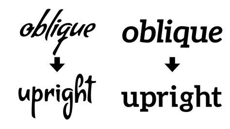 illustrator oblique font  upright tutorial youtube