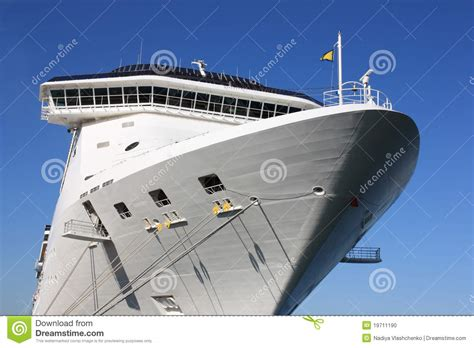 Aft Of White Cruise Ship Stock Photo. Image Of ...