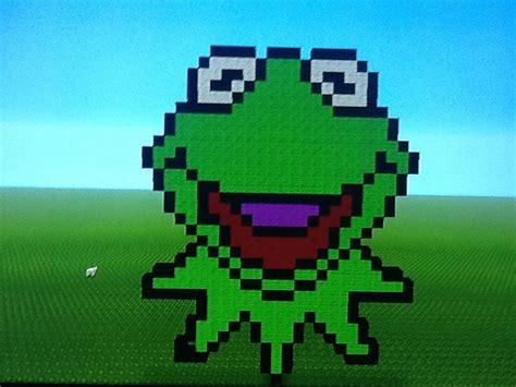 Minecraft Pixel Art Tutorial Kermit The Frog
