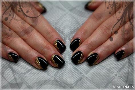 nägel schwarz gold geln 228 gel schwarz gold nageldesign galerie 2019 100 nagelstudio bilder nail fotos geln gel
