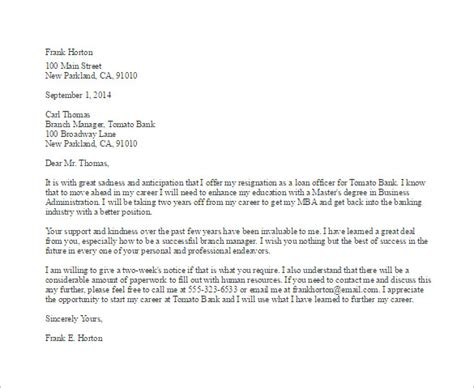 employee resignation letter template   word