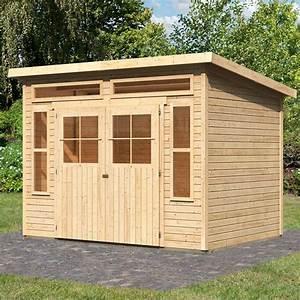 Abri De Jardin Pvc Toit Plat : abri de jardin toit plat 9 24m en bois brut 19mm tinkenau ~ Dailycaller-alerts.com Idées de Décoration