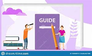 Instructions Manual Concept  User Manual Flat Style Vector