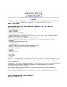 resumes for property managers exles property managers resume sales management lewesmr