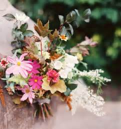 fall wedding flowers colorful fall wedding bouquet once wed