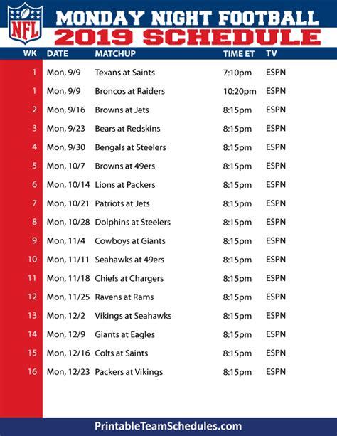 nfl football schedule   season schedule