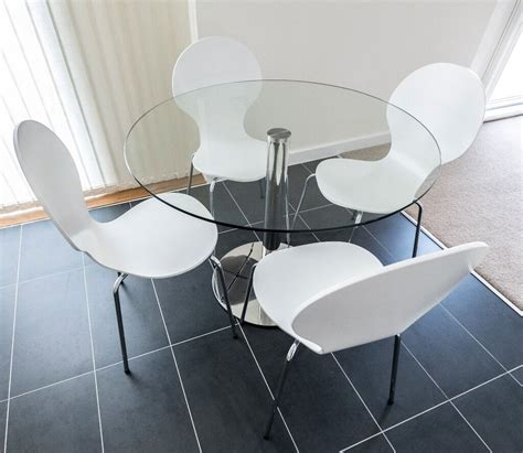 john lewis enzo  seater  glass top dining table