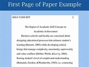 self concept examples