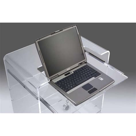 meuble bureau pc meuble plexiglas transparent pc ioda bugg