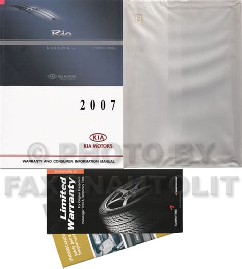 free service manuals online 2007 kia rio user handbook 2007 kia rio owners manual original