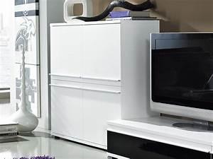 Kommode Weiß Mit Türen : steel wohnzimmer kommode mit 4 t ren in wei 100 x 100 x 40 wohnzimmer kommoden sideboards ~ Bigdaddyawards.com Haus und Dekorationen