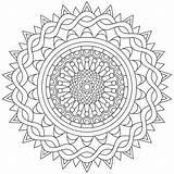 Mandala Coloring Colouring Pencils sketch template