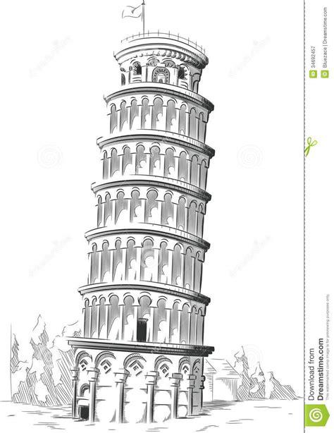 toren van pisa tekening schets van het ori 235 ntatiepunt van itali 235 toren van pisa