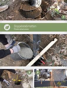 Pfosten Einbetonieren Wie Tief : doppelstabmatten pfosten einbetonieren selbermachen ~ A.2002-acura-tl-radio.info Haus und Dekorationen