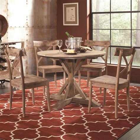 largo callista   rustic casual  pedestal table