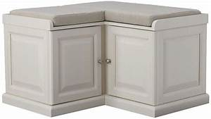 White, Corner, Bench, Seating, Cushions, L, Shaped, Mudroom, Cubby, Cabinet, Storage, Room