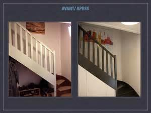 Escalier Peint En Gris Fonce by Entr 233 E Escaliers Toilettes