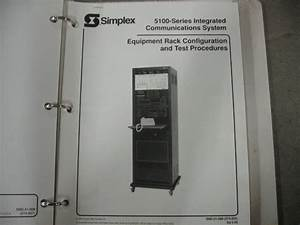 Simplex 5120 Building Communications System For Parts