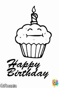 生日蛋糕著色頁