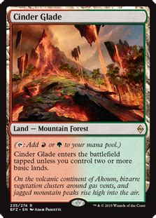 cinder glade battle for zendikar gatherer magic the gathering