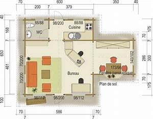 Plan De Construction : cuisine roulottes en bois plan de chalet en bois rond ~ Premium-room.com Idées de Décoration