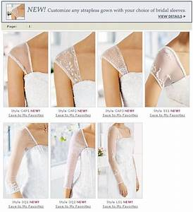 technique add sleeves straps to strapless dresses this With how to add sleeves to a strapless wedding dress