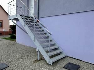 Escalier Metal Prix : escalier ext rieur avec dalles de terrasse metal concept ~ Edinachiropracticcenter.com Idées de Décoration