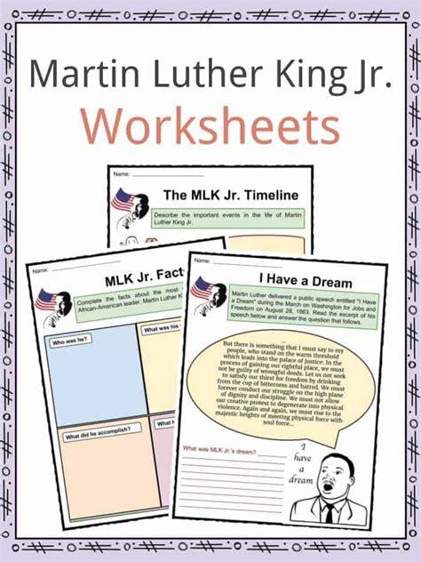 mlk worksheet middle school mlk best free printable
