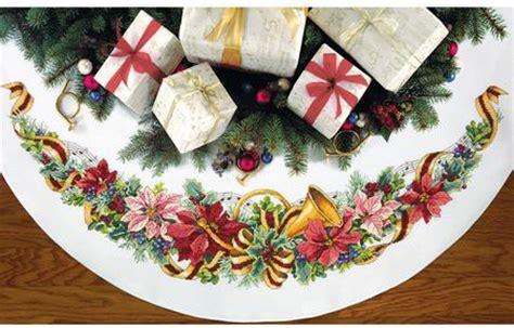 70 inch christmas tree skirt dimensions harmony tree skirt cross stitch kit 70 08939 123stitch