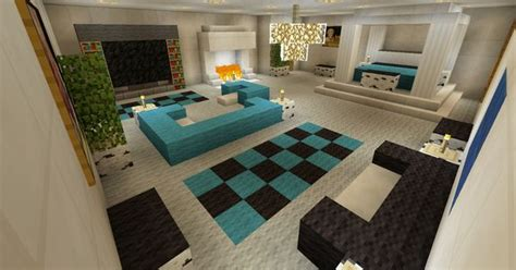 minecraft bedroom  living area furniture  canopy