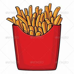Vector Cartoon French Fries in Red Carton by nikiteev