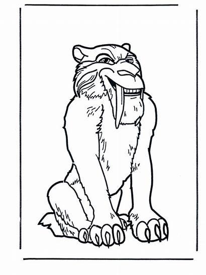 Tigre Dientes Ice Age Sable Dibujos Disegno