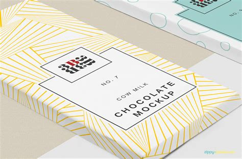 Set blank foil food snack packages. Free Cool Chocolate Bar Mockup | ZippyPixels