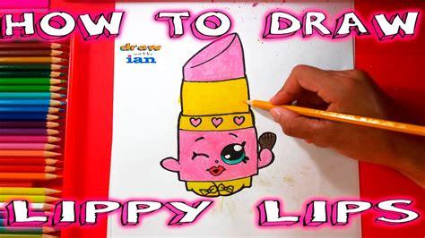 draw shopkins   draw lippy lips step  step