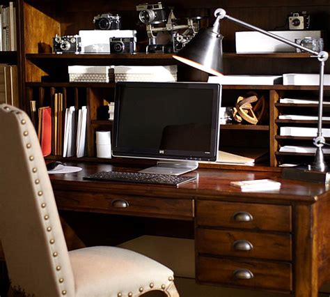 Pottery Barn Printers Desk by Freshening Up My Desk With Wallpaper Satori Design For