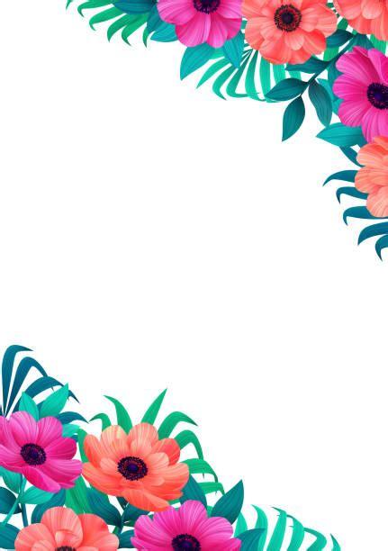 border card colorful corner design floral flower