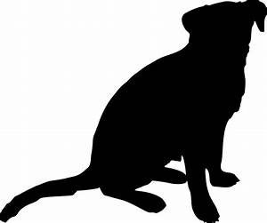 Silhouette Dog at GetDrawings.com | Free for personal use ...