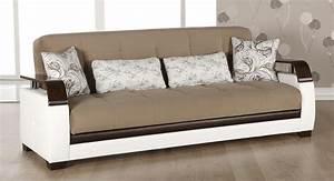 Sale, More, Functional, Sofas, Futons, Natural, Convertible, Sleeper, Sofa, Naomai, Light, Brown
