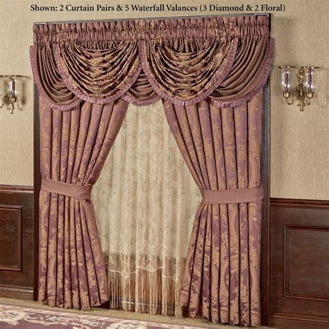 Waterfall Valance Curtain Set by Josephine Waterfall Valance Window Treatment