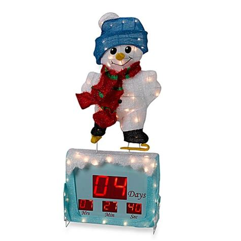 countdown to christmas snowman lighted digital clock yard decor digital snowman countdown clock bed bath beyond