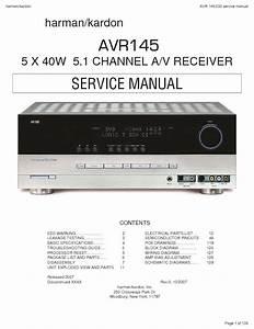 Harman Kardon Avr 145  Serv Man3  Service Manual