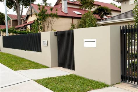 front gates and fences modern front fence all scape