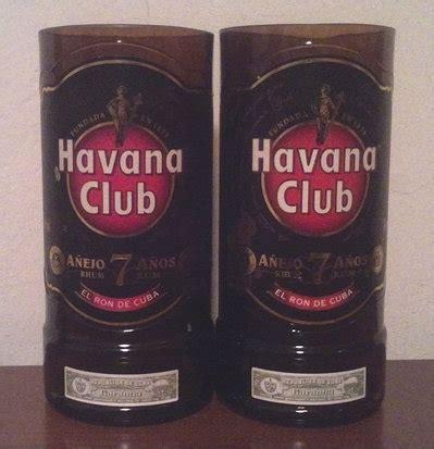 bicchieri per rum 2 bicchieri rum club ottenuti da bottiglie per la