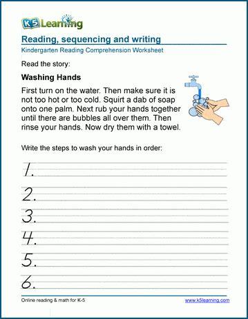 sequencing  worksheets  kindergarten  learning