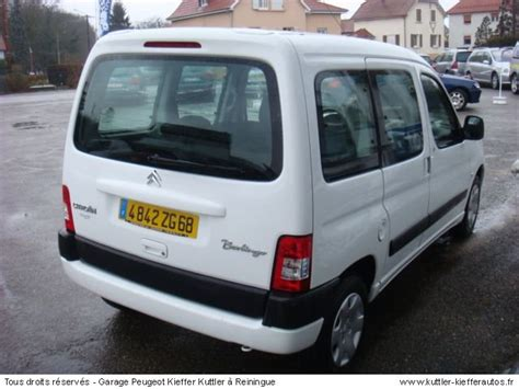 siege citroen berlingo occasion citroen berlingo 1 6l 16v multispace 2007 occasion auto